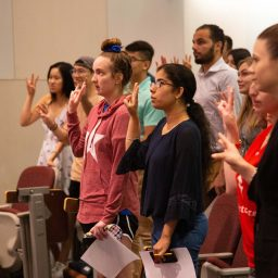 Students attend graduation orientation event to prepare for the big day